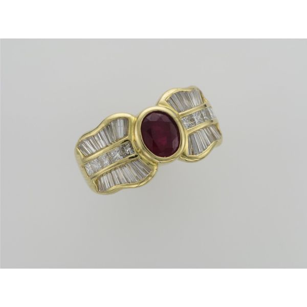 Ladies Yellow Gold Ruby And Diamond Ring David Scott Fine Jewelry Panama City Beach, FL
