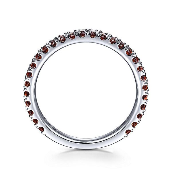 Gabriel & Co White Gold Garnet Stacklable Ring Image 2 David Scott Fine Jewelry Panama City Beach, FL