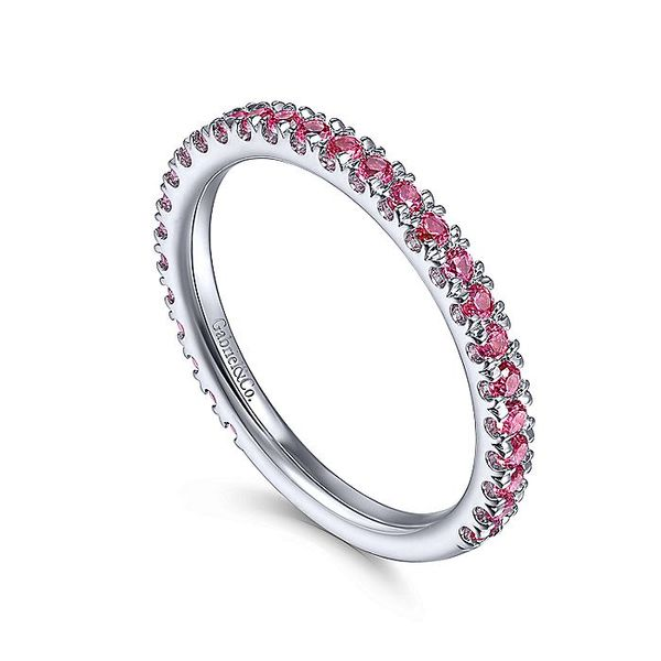 Gabriel & Co White Gold Ruby Stackable Ring Image 3 David Scott Fine Jewelry Panama City Beach, FL