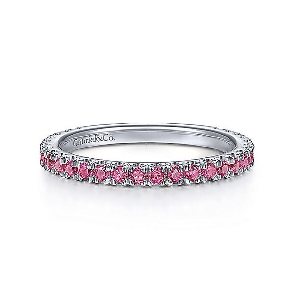 Gabriel & Co White Gold Ruby Stackable Ring David Scott Fine Jewelry Panama City Beach, FL