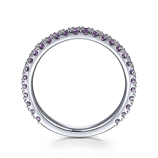 Gabriel & Co White Gold Amethyst Stackable Ring Image 2 David Scott Fine Jewelry Panama City Beach, FL