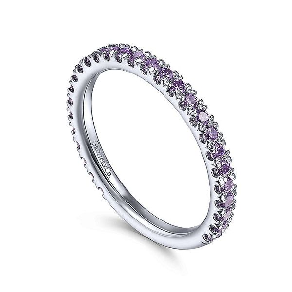 Gabriel & Co White Gold Amethyst Stackable Ring Image 3 David Scott Fine Jewelry Panama City Beach, FL