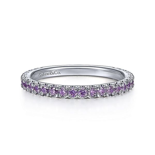 Gabriel & Co White Gold Amethyst Stackable Ring David Scott Fine Jewelry Panama City Beach, FL