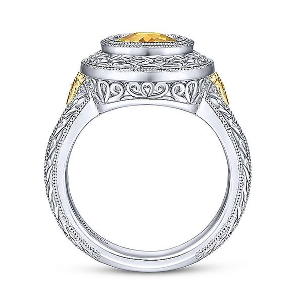 Gabriel & Co Sterling Silver And Yellow Gold Citrine Fashion Ring Image 2 David Scott Fine Jewelry Panama City Beach, FL
