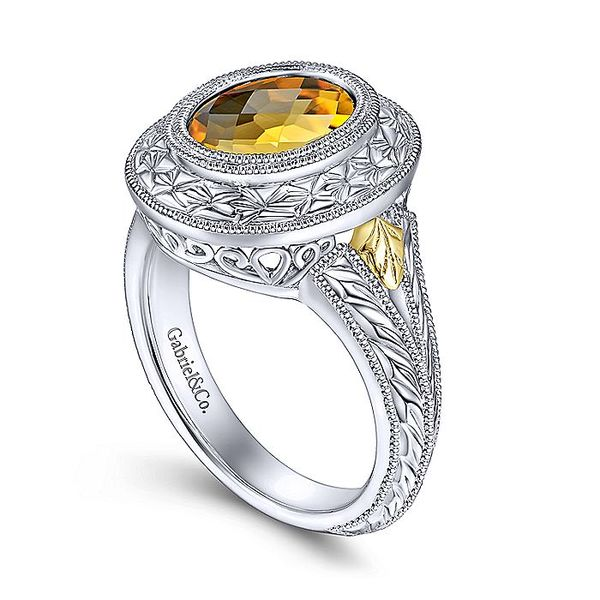 Gabriel & Co Sterling Silver And Yellow Gold Citrine Ring Image 3 David Scott Fine Jewelry Panama City Beach, FL