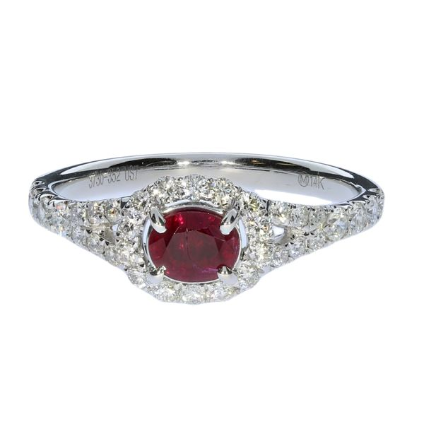 White Gold Ruby And Diamond Ring David Scott Fine Jewelry Panama City Beach, FL