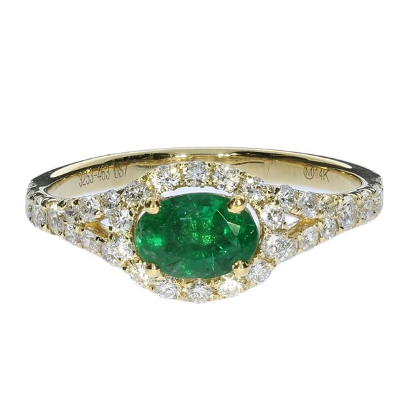 White Gold Emerald And Diamond Ring David Scott Fine Jewelry Panama City Beach, FL