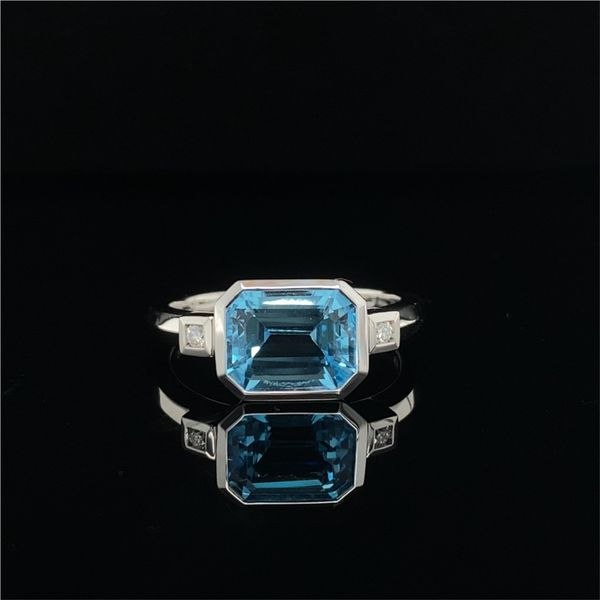 White Gold Blue Topaz Ring David Scott Fine Jewelry Panama City Beach, FL