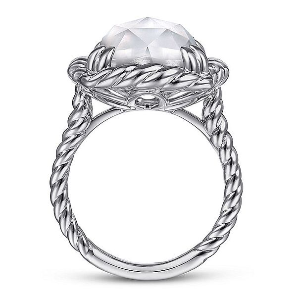 Gabriel & Co Sterling Silver Rock Crystal and White MOP Ring Image 2 David Scott Fine Jewelry Panama City Beach, FL
