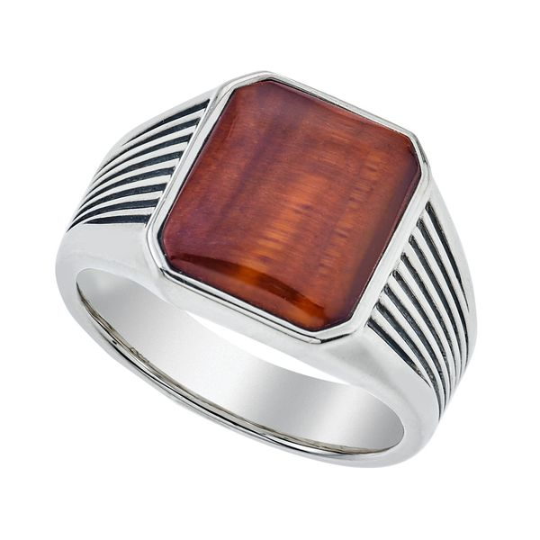 Gents Esquire Sterling Silver Tiger Eye Ring David Scott Fine Jewelry Panama City Beach, FL
