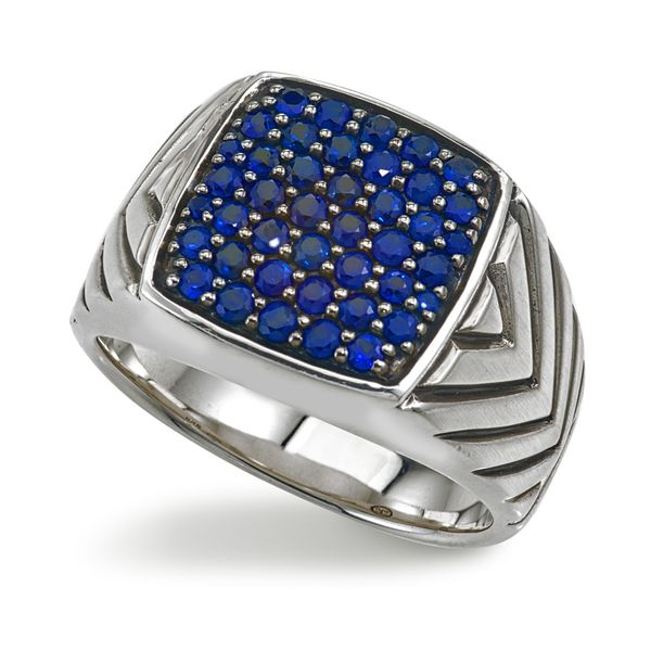 Gents Esquire Sterling Silver Sapphire Ring David Scott Fine Jewelry Panama City Beach, FL
