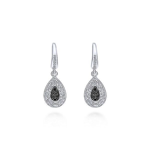 Gabriel & Co Silver Black Spinel Filigree Earrings David Scott Fine Jewelry Panama City Beach, FL