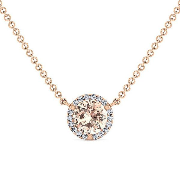 Gabriel & Co. Rose Gold Morganite And Diamond Fashion Necklace David Scott Fine Jewelry Panama City Beach, FL