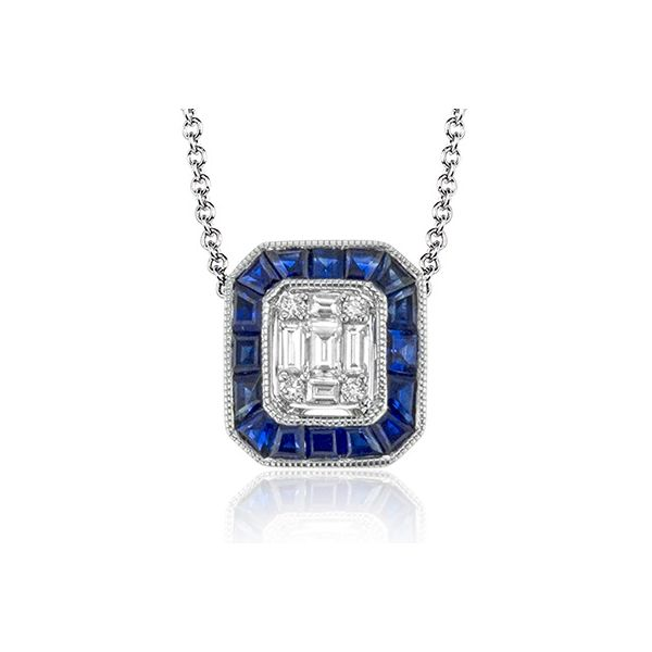 Simon G. White Gold Sapphire And Diamond Pendant David Scott Fine Jewelry Panama City Beach, FL