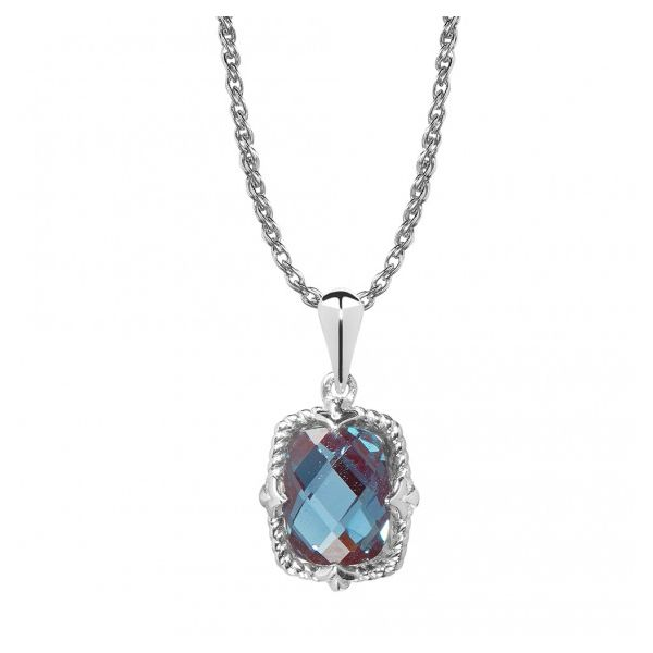 Colore|SG Sterling Silver Created Alexandrite Necklace David Scott Fine Jewelry Panama City Beach, FL
