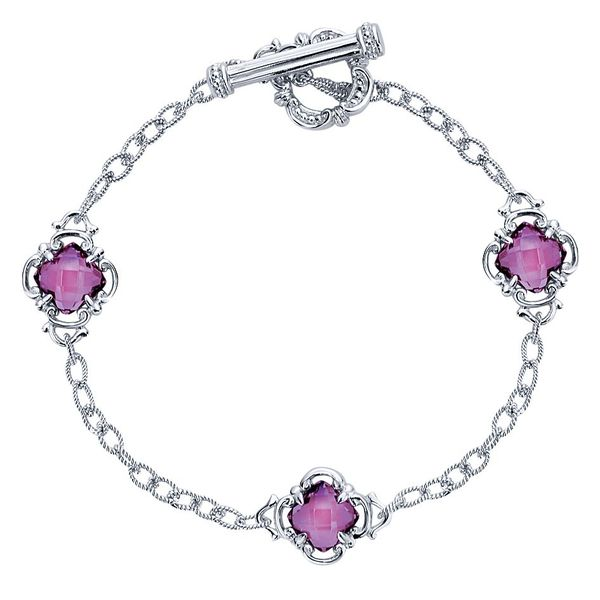 Gabriel & Co. Silver Chain Amethyst Bracelet David Scott Fine Jewelry Panama City Beach, FL