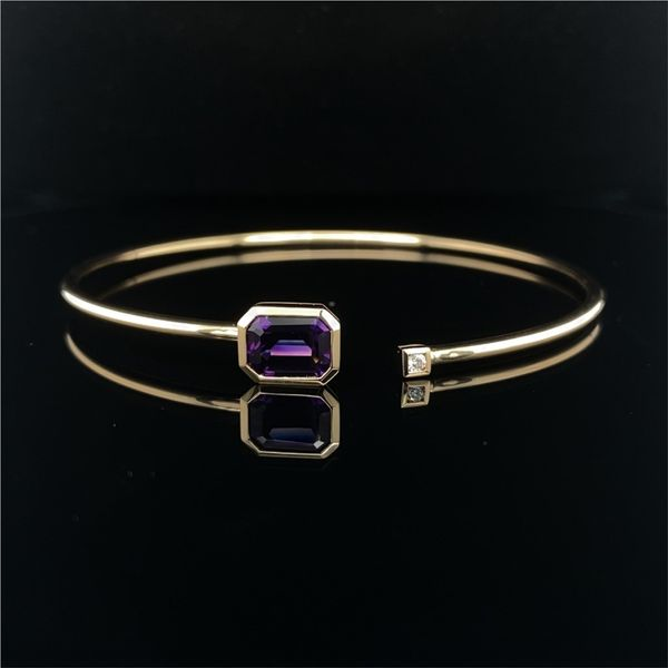 Yellow Gold Amethyst Bangle David Scott Fine Jewelry Panama City Beach, FL
