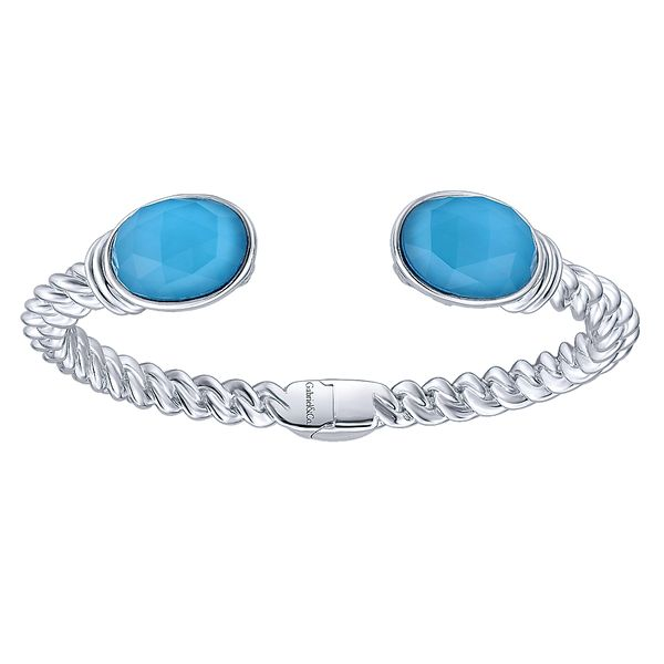 Gabriel & Co. Sterling Silver Turquoise Bangle David Scott Fine Jewelry Panama City Beach, FL