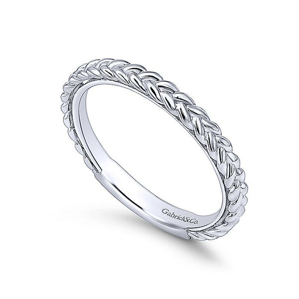 Gabriel & Co White Gold Braided Stackable Ring Image 3 David Scott Fine Jewelry Panama City Beach, FL