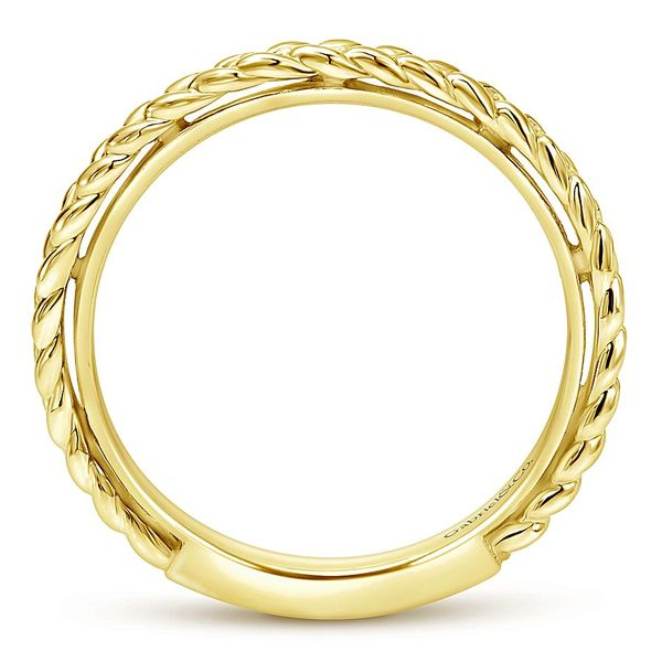 Gabriel & Co. Yellow Gold Braided Stackable Ring Image 2 David Scott Fine Jewelry Panama City Beach, FL