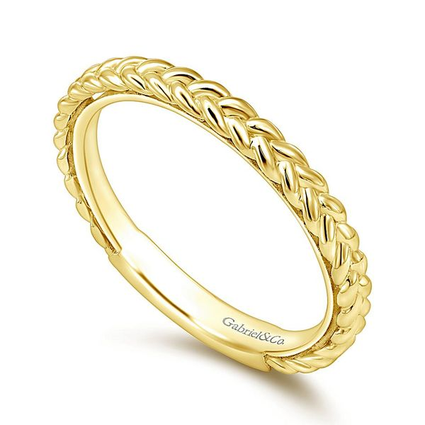 Gabriel & Co. Yellow Gold Braided Stackable Ring Image 3 David Scott Fine Jewelry Panama City Beach, FL