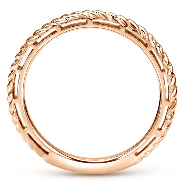 Gabriel & Co Rose Gold Twisted Rope Stackable Ring Image 2 David Scott Fine Jewelry Panama City Beach, FL