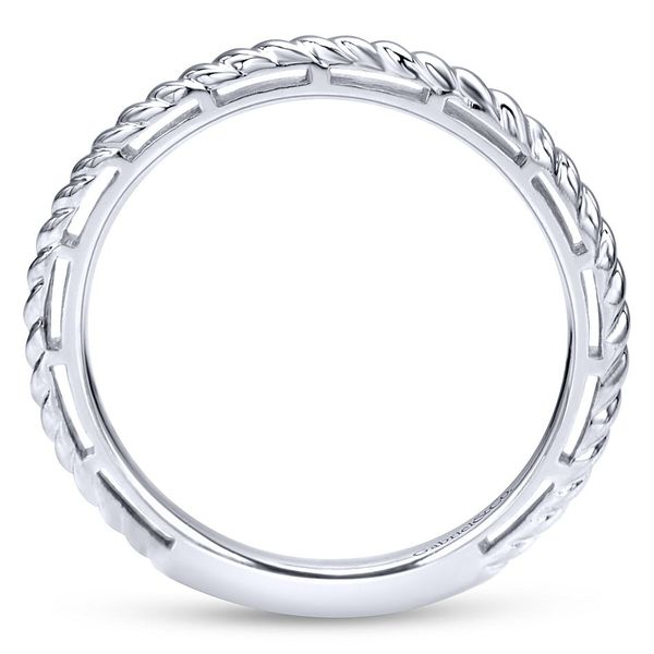 Gabriel & Co White Gold Twisted Rope Stackable Ring Image 2 David Scott Fine Jewelry Panama City Beach, FL