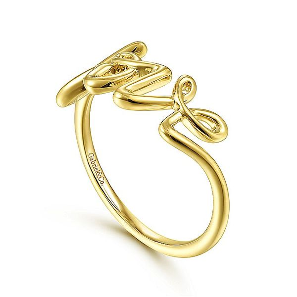 Gabriel & Co Yellow Gold Love Ring Image 3 David Scott Fine Jewelry Panama City Beach, FL