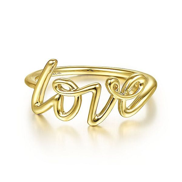 Gabriel & Co Yellow Gold Love Ring David Scott Fine Jewelry Panama City Beach, FL