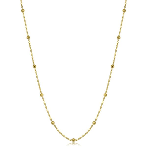Yellow Gold Beaded Chain David Scott Fine Jewelry Panama City Beach, FL