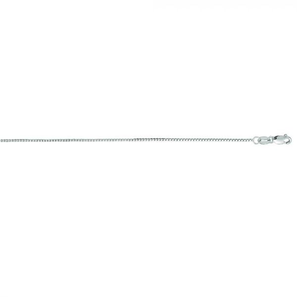 14k White Gold Extendable Box Chain 18