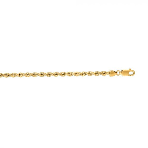 14k Yellow Gold Solid Rope Chain 18
