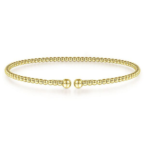 Gabriel & Co Yellow Gold Bujukan Bangle Bracelet David Scott Fine Jewelry Panama City Beach, FL