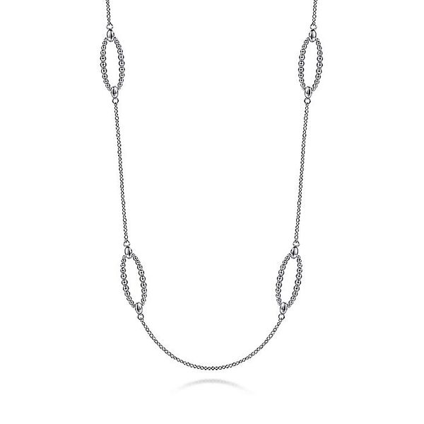 Gabriel & Co Sterling Silver Bujukan Station Necklace Necklace David Scott Fine Jewelry Panama City Beach, FL