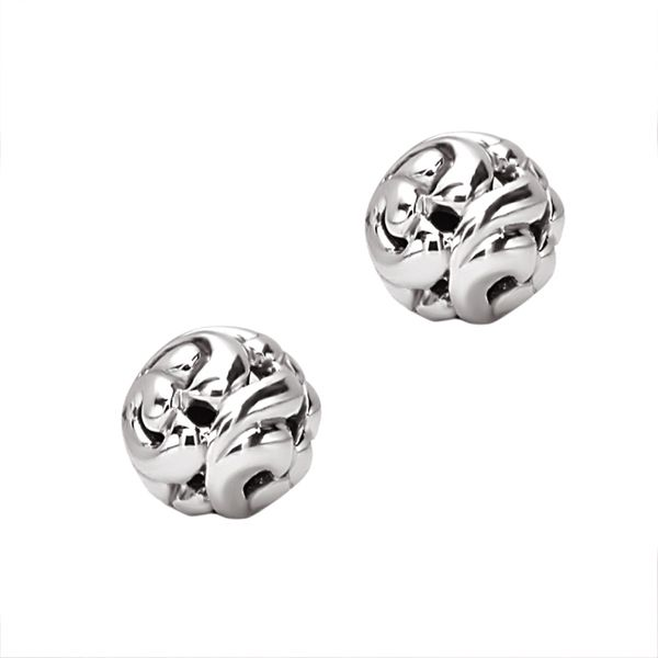 Charles Krypell Sterling Silver 11MM Ivy Button Stud Earrings With Large Friction Backs David Scott Fine Jewelry Panama City Beach, FL