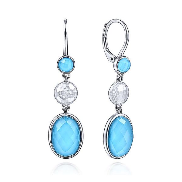 Gabriel & Co Silver Turquoise Double Dangle Earrings David Scott Fine Jewelry Panama City Beach, FL