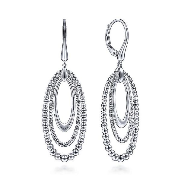 Gabriel & Co Sterling Silver Leverback Oval Drop Earrings David Scott Fine Jewelry Panama City Beach, FL