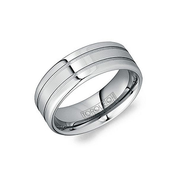 Tungston Carbide Wedding Rings.Crown Ring Torque Collection Tungsten Carbide Wedding Band