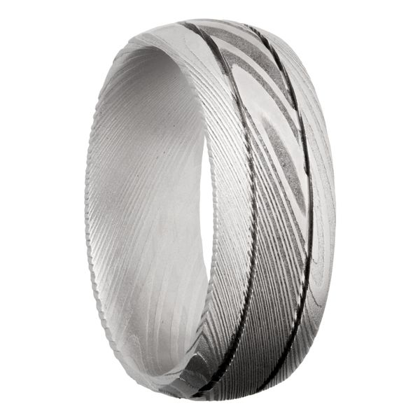 Lashbrook Damascus Steel Band Image 2 David Scott Fine Jewelry Panama City Beach, FL