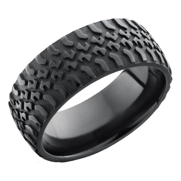 Lashbrook Zirconium Truck Tire Pattern Band David Scott Fine Jewelry Panama City Beach, FL