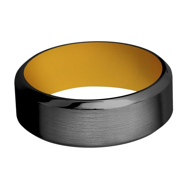 Lashbrook Black Zirconium Wedding Band Image 3 David Scott Fine Jewelry Panama City Beach, FL