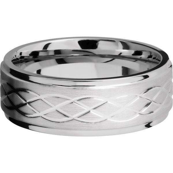 Lashbrook Cobalt Celtic Pattern Wedding Band Image 3 David Scott Fine Jewelry Panama City Beach, FL