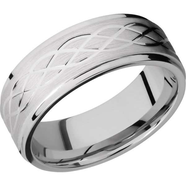 Lashbrook Cobalt Celtic Pattern Wedding Band David Scott Fine Jewelry Panama City Beach, FL