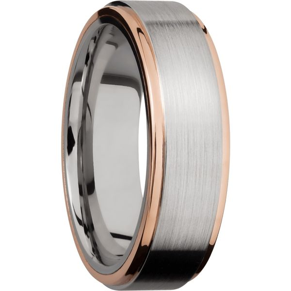 Lashbrook Cobalt & Rose Gold Wedding Band Image 2 David Scott Fine Jewelry Panama City Beach, FL