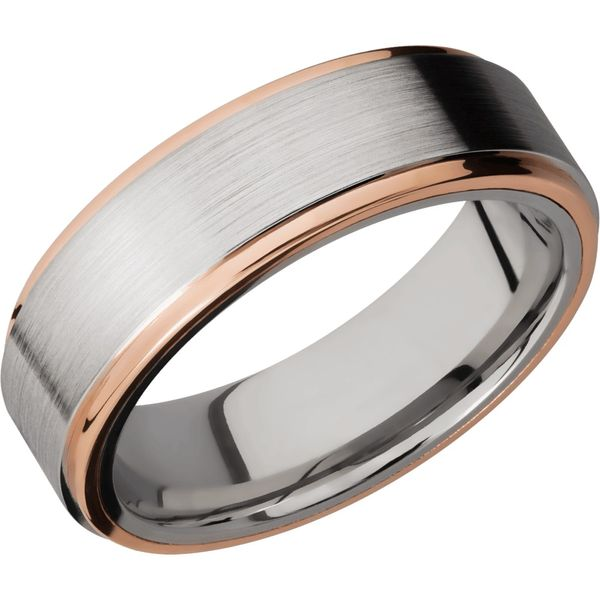 Lashbrook Cobalt & Rose Gold Wedding Band David Scott Fine Jewelry Panama City Beach, FL