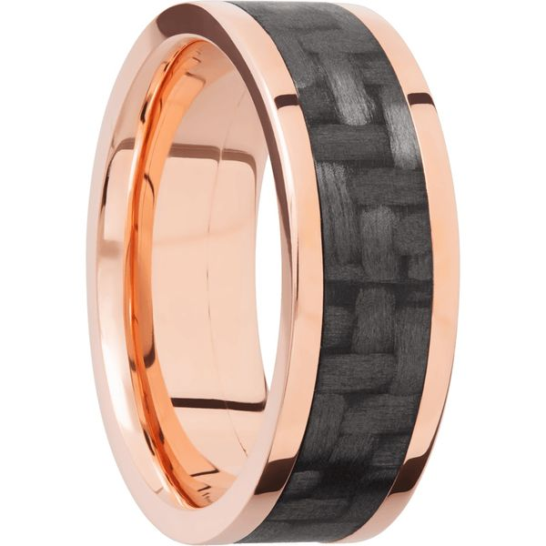 Lashbrook Rose Gold & Carbon Fiber Wedding Band Image 2 David Scott Fine Jewelry Panama City Beach, FL