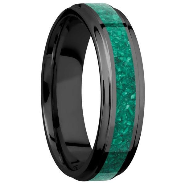 Lashbrook Zirconium & Malachite Wedding Band Image 2 David Scott Fine Jewelry Panama City Beach, FL