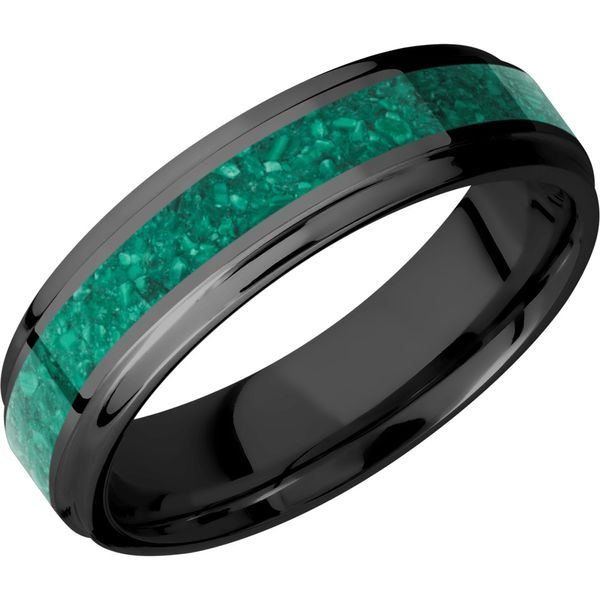 Lashbrook Zirconium & Malachite Wedding Band David Scott Fine Jewelry Panama City Beach, FL