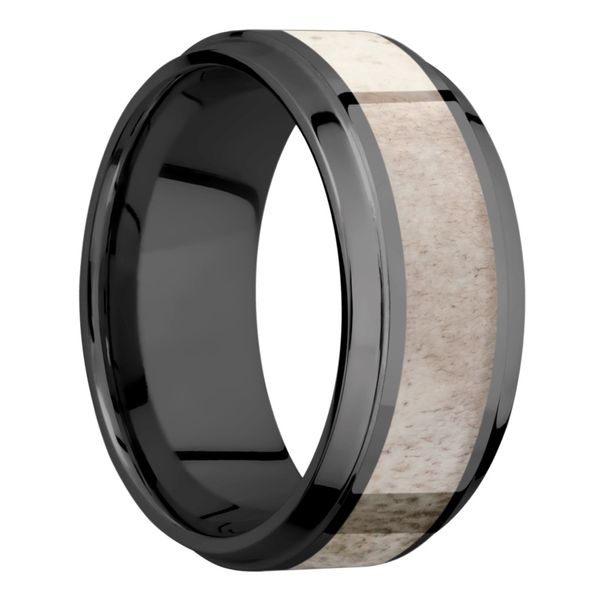 Lashbrook Zirconium & Antler Wedding Band Image 2 David Scott Fine Jewelry Panama City Beach, FL