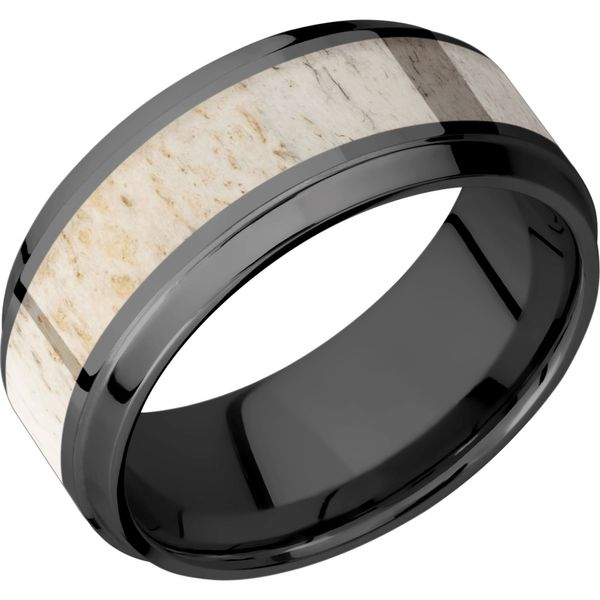 Lashbrook Zirconium & Antler Wedding Band David Scott Fine Jewelry Panama City Beach, FL